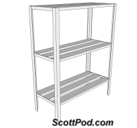 3 shelf rack