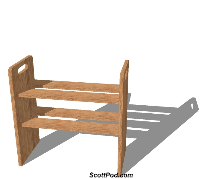 Simple Shoe Rack - 3D Model (2010) (This is the link to open the 3D ...